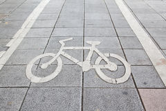 знак bike Стоковое фото RF