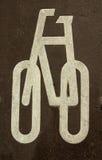 знак bike Стоковое Изображение