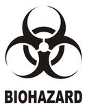 знак biohazard Стоковое Изображение