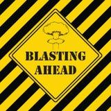 Знак Blastin - опасность держит вне иллюстрация вектора
