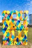 Знак Blumenau на парке Ramiro Санта-Катарина стоковые фото