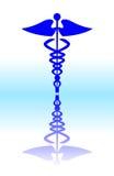 знак caduceus медицинский Стоковое Изображение