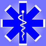 знак caduceus медицинский Стоковое Фото