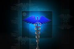 знак caduceus медицинский Стоковые Изображения
