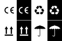 Знак CE черно-белый Стоковое Фото