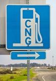 Знак CNG Стоковое Изображение RF