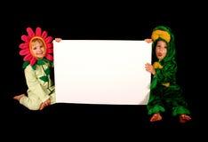 знак costumes детей Стоковое Изображение