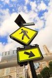 знак crosswalk Стоковое Изображение