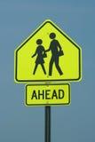 знак crosswalk Стоковое Фото
