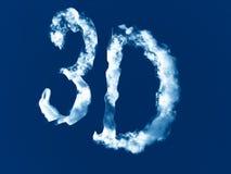 знак 3d сделанный из облаков стоковое фото