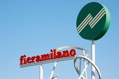 Знак Fiera Милана Rho Стоковое Изображение RF
