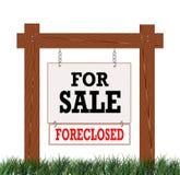Знак Foreclosed домом Стоковая Фотография