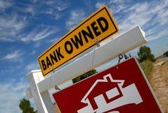 знак foreclosure домашний Стоковые Изображения RF