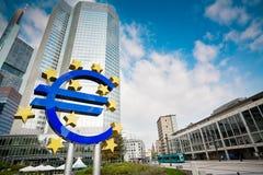 знак frankfurt евро известный Стоковая Фотография RF