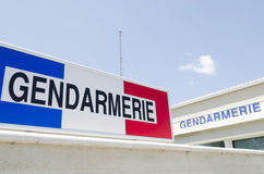 Знак Gendarmerie Стоковое Фото
