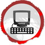 знак grunge компьютера Стоковые Изображения RF