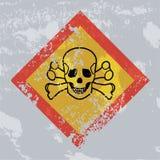 Знак grunge опасности смерти. Острая токсичность. Стоковые Фото
