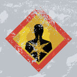 Знак grunge опасности для здоровья. Стоковые Фото