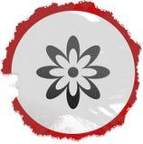 знак grunge цветка Стоковое фото RF