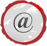 знак grunge электронной почты Стоковые Фото