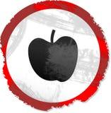 знак grunge яблока Стоковые Изображения RF