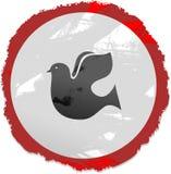 знак grunge dove Стоковые Изображения
