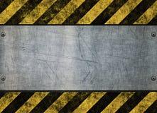 знак grungy опасности металлопластинчатый иллюстрация штока