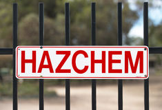 Знак HAZCHEM Стоковая Фотография