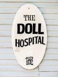 Знак Hopsital куклы Стоковое фото RF