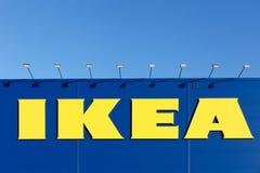Знак IKEA на стене Стоковая Фотография RF