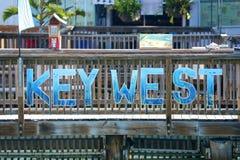 Знак Key West, Флорида Стоковое Изображение RF