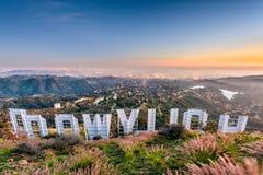 знак la hollywood Стоковое Изображение