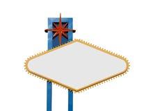Знак Las Vegas изолированный при весь извлекли текст, котор Стоковые Изображения