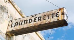 Знак Launderette стиля Арт Деко Стоковое Изображение RF