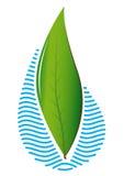 Знак Leaves&Water Стоковые Фотографии RF
