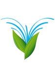 Знак Leaves&Water Стоковое фото RF