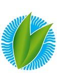 Знак Leaves&Water Стоковая Фотография RF
