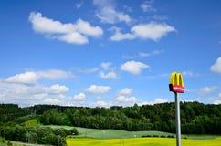 знак mcdonalds Стоковое Фото
