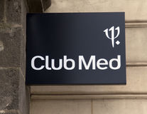 Знак med клуба на здании Стоковые Фотографии RF
