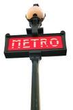 знак paris метро Стоковая Фотография