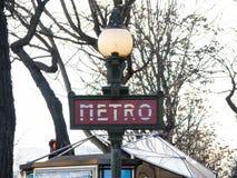 знак paris метро Стоковые Фотографии RF