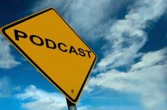 знак podcast принципиальной схемы Стоковые Изображения RF