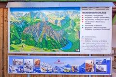 Знак Predigtstuhlbahn информации Стоковое Фото