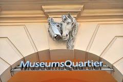 Знак Quartier музеев Стоковые Фото