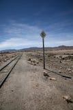 знак railway пустыни Стоковое Изображение RF