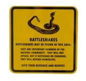 знак rattlesnake Стоковое Изображение