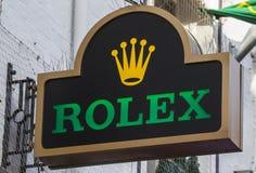 Знак Rolex над магазином Стоковые Фото