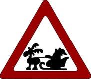 знак santa дороги claus бесплатная иллюстрация