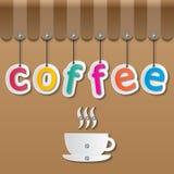 Знак shopfront кофе Стоковое Изображение RF