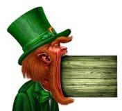 Знак St. Patrick лепрекона Стоковое Фото